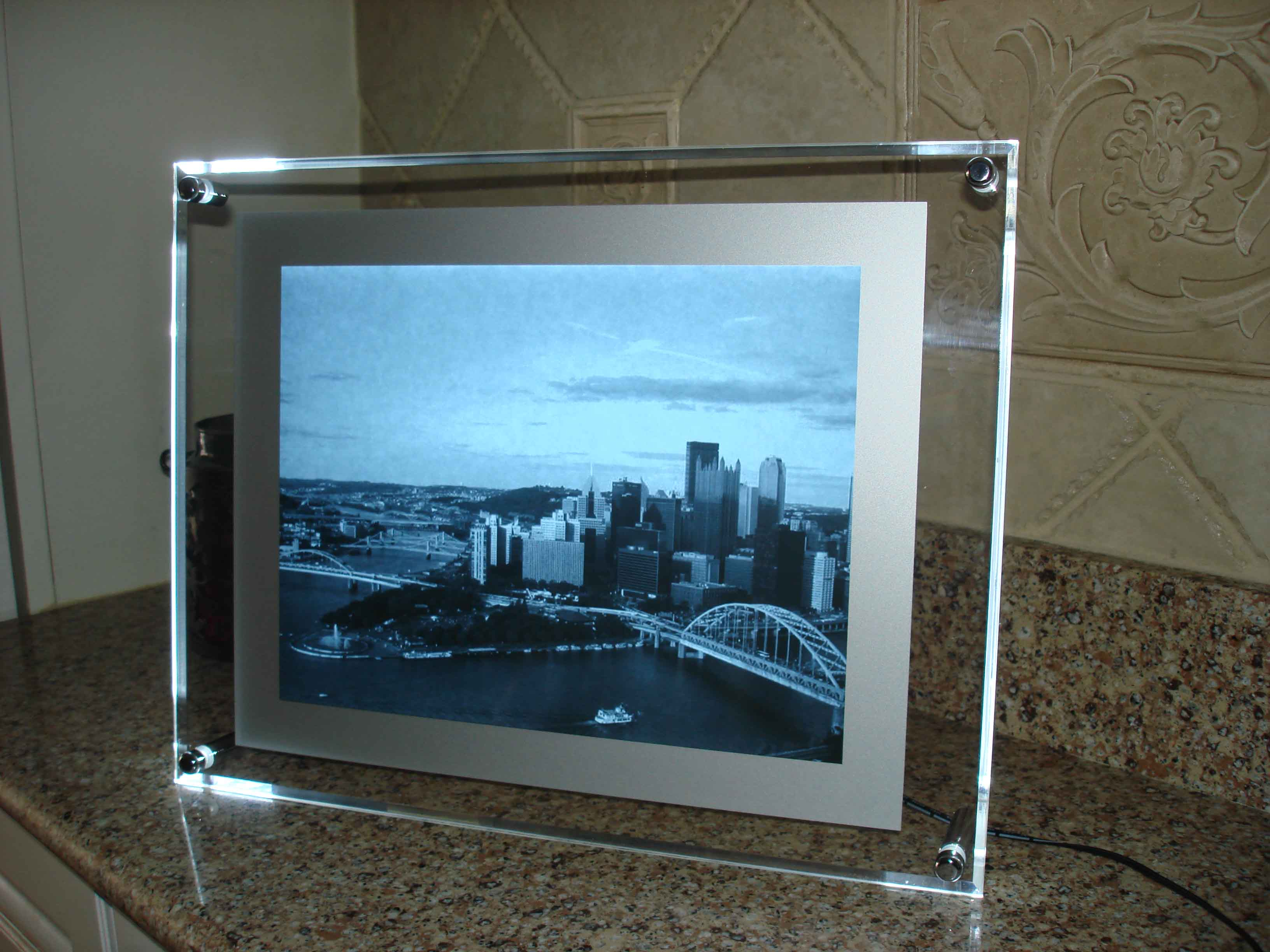 framed x ray picture